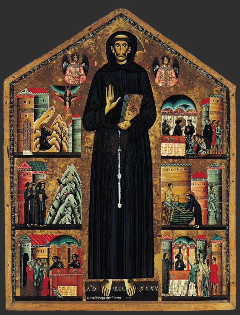 Св. Франциск и сцены из его жизни. 1235