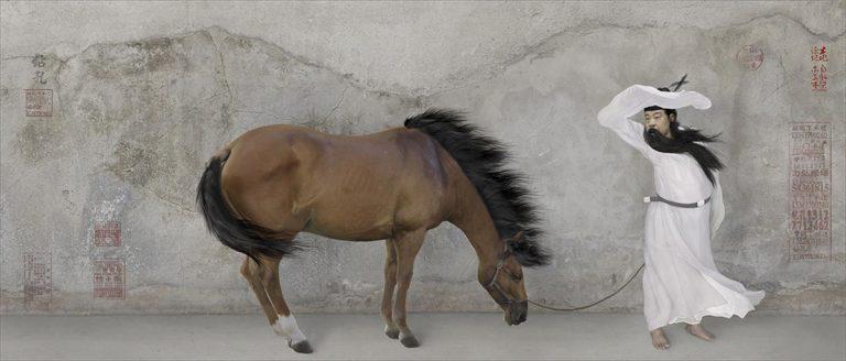 Тренировка лошади. Из серии «Колония цветка персика». 2011