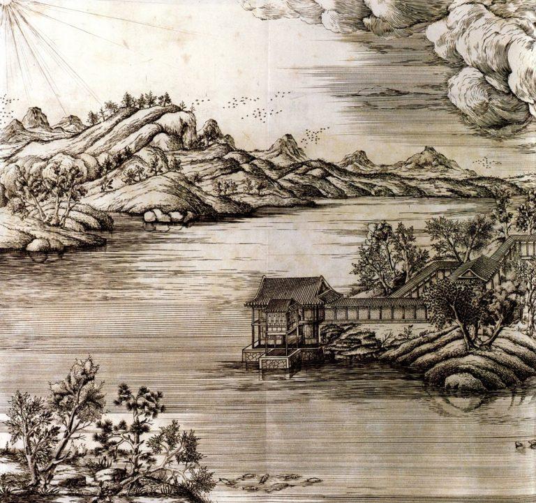 Утренний свет на западной гряде. 1711–1713