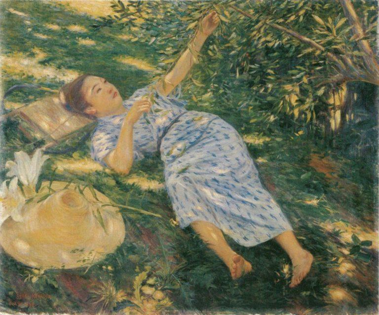 В тени дерева. 1898