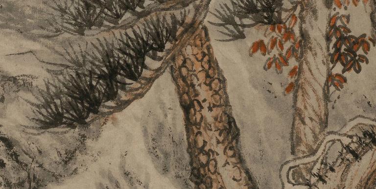 Величественная гора Лу. Фрагмент свитка. 1467