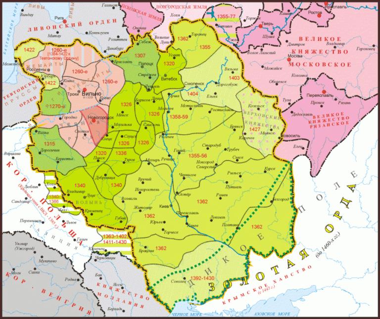 Великое княжество Литовское в XIII–XIV вв.