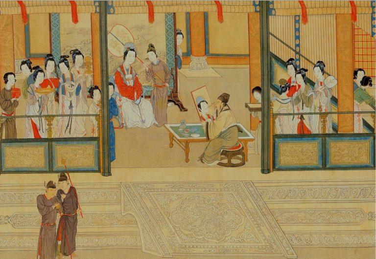 Весеннее утро в Ханьском дворце. Фрагмент. XVI в.