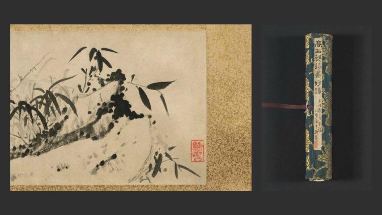 Ветка сливы и пионы. Китай, 1741