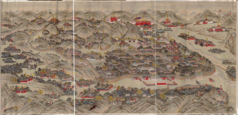 Вид на императорский летний дворец в Жэхэ (Чэндэ). 1875–1900