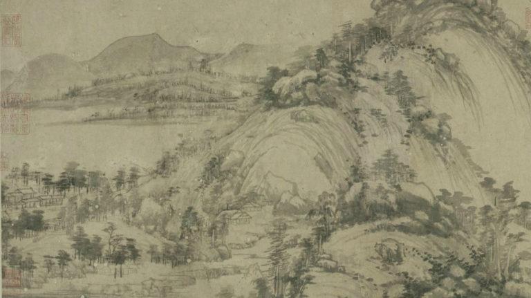 Жилище в горах Фучунь. Фрагмент. 1347–1350
