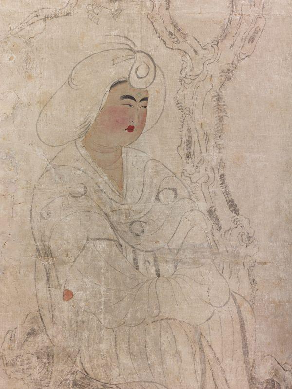 Живопись на панели многостворчатой ширмы. Фрагмент. Китай, VІІІ в.