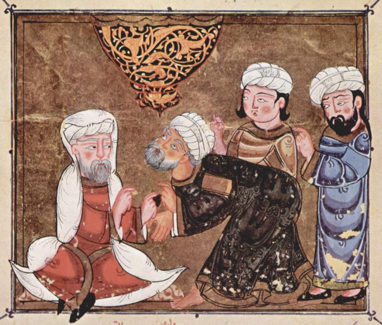 Абу Зайд обращается с прошением к кади (судье) города Мааррет-эн-Нууман. 1334