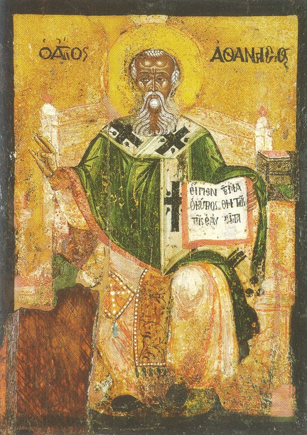 Афанасий Александрийский. Болгарская икона, XVII в.