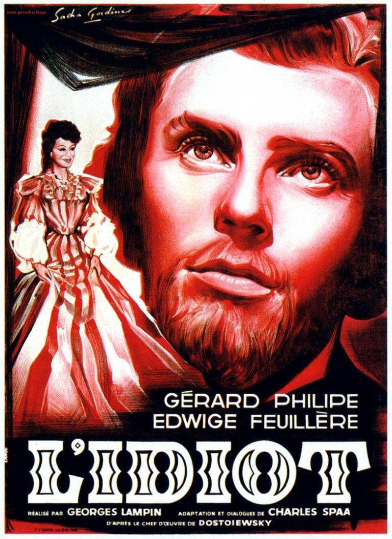 Афиша фильма «Идиот». Франция, 1946