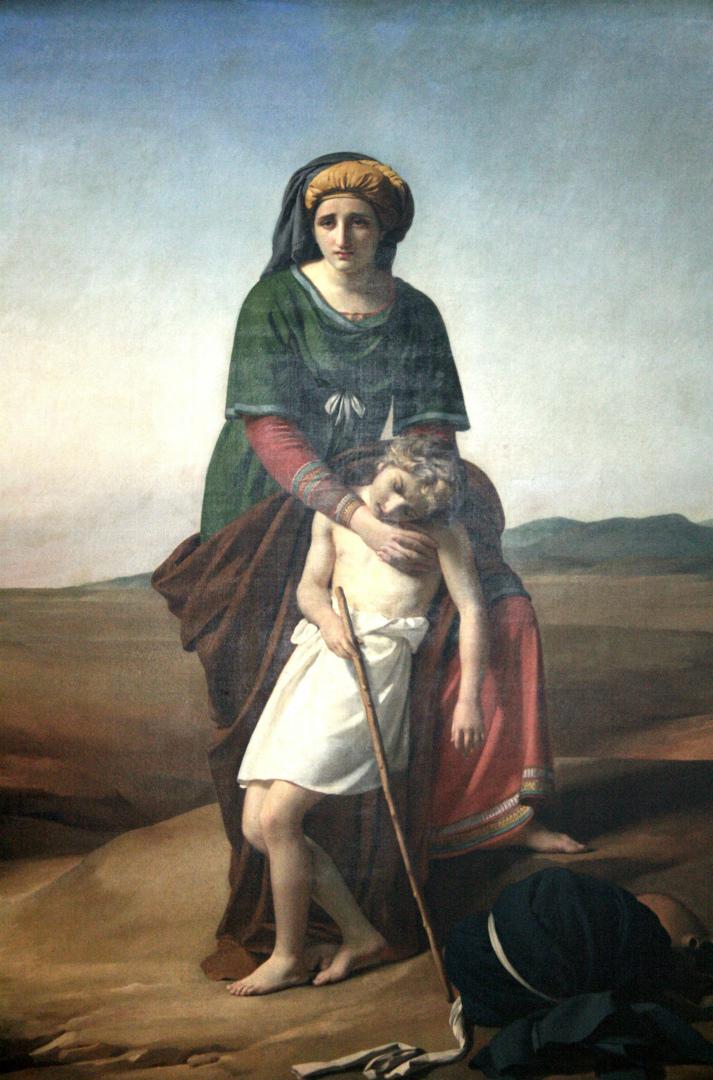 Агарь с сыном Измаилом в Аравийской пустыне. 1820
