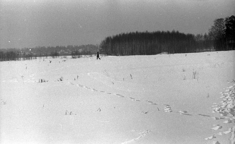 Акция «Глядя на водопад» группы «Коллективные действия». 1980