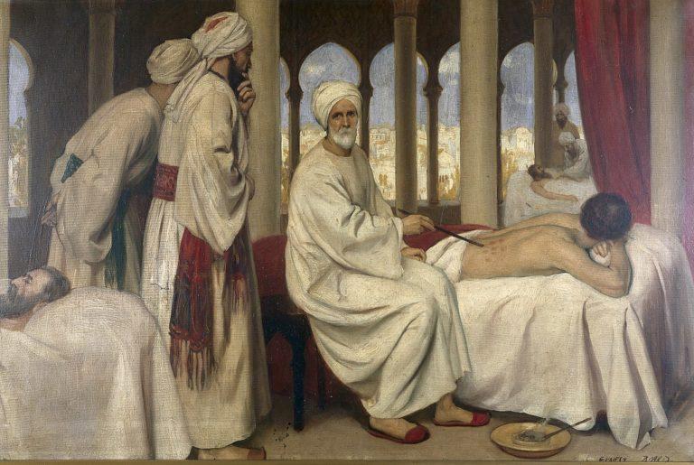 Альбукасис лечит больного в Кордове