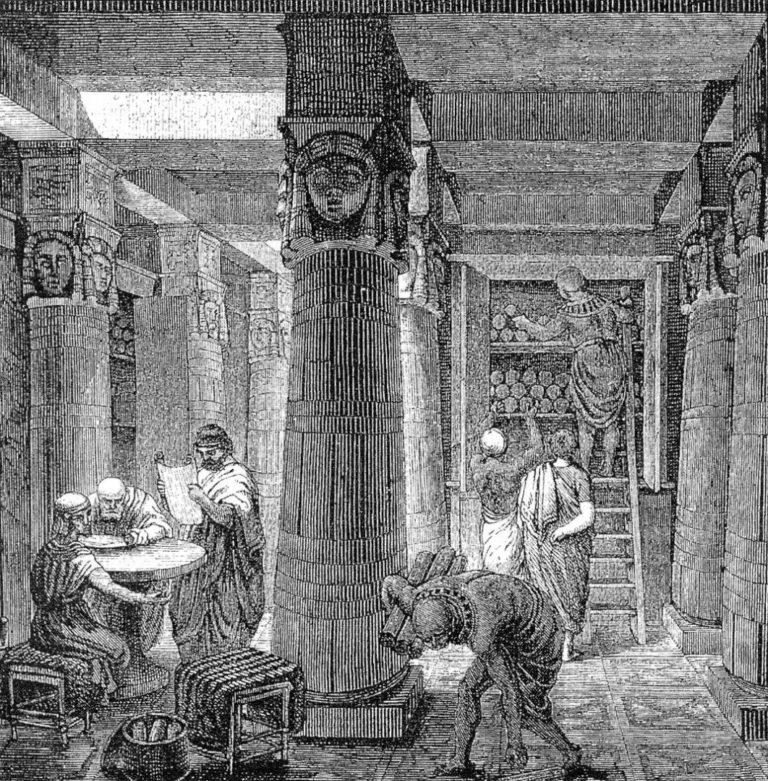 Александрийская библиотека. XIX в.