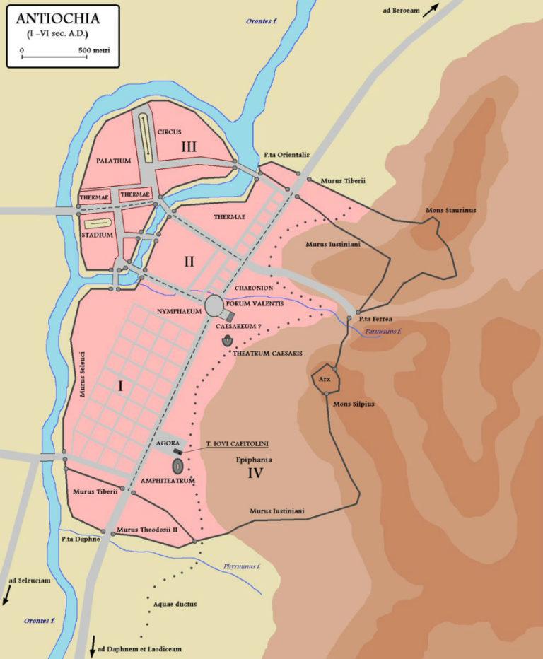 Антиохия на Оронте. План города