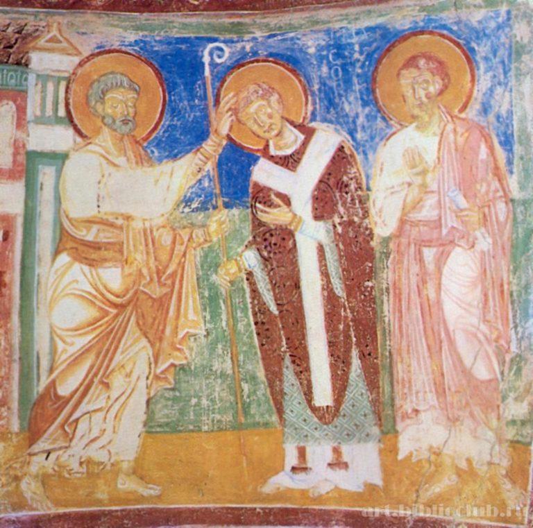 Апостол Петр, святой Ермагор, евангелист Марк. Ок. 1200