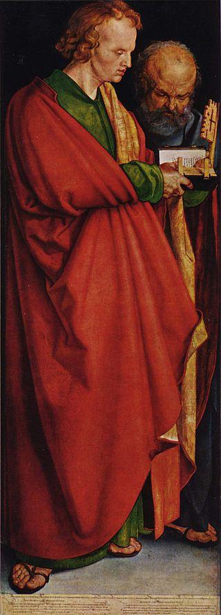 Апостолы Иоанн и Пётр. Левая часть диптиха «Четыре апостола». 1526