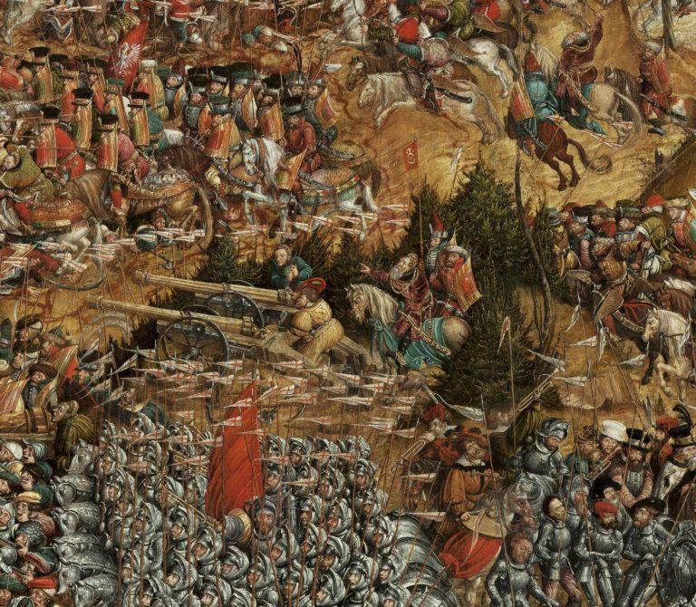 Битва под Оршей. Фрагмент. Константин Острожский командует польско-литовским войском. 1524-1530