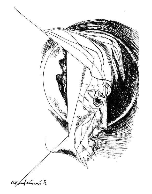 Чёрное солнце Раскольникова. Иллюстрация к роману Ф. М. Достоевского «Преступление и наказание». 1970