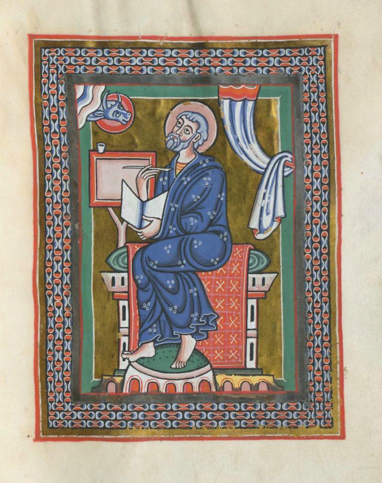 Евангелист Лука. Германия, XII в.