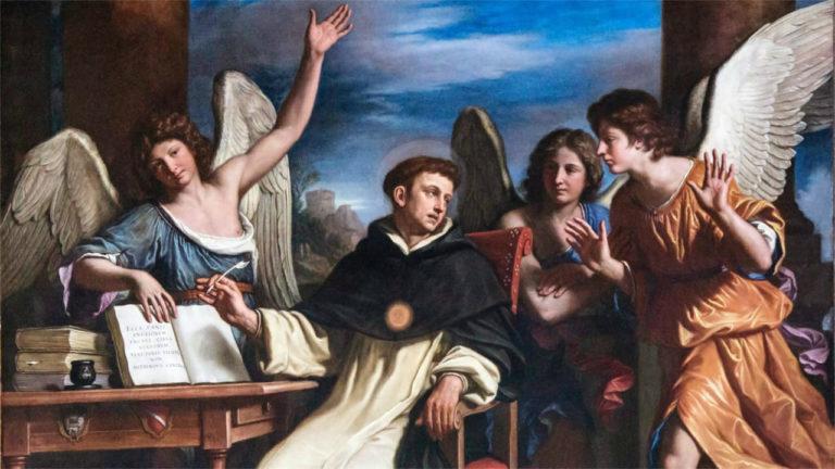 Фома Аквинский в окружении ангелов. 1662
