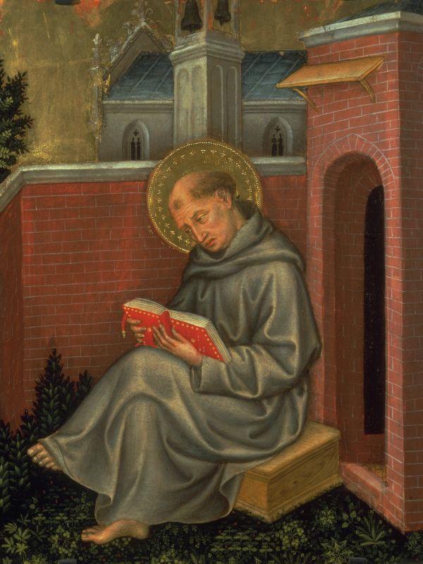 Фома Аквинский. Фрагмент «Полиптиха Валле Ромита». 1410–1412