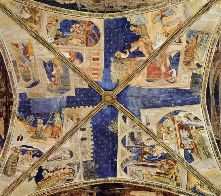 Фрески потолка капеллы св. Марциала. 1344–1346