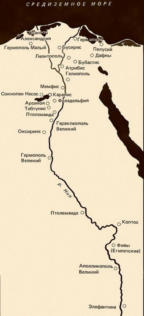 Главные еврейские общины Египта в эллинистический период