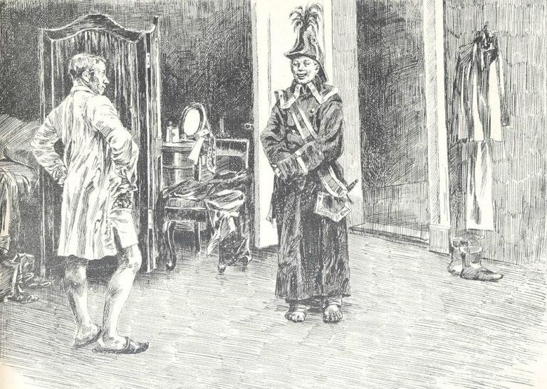 Голядкин и Петрушка. Ок. 1895