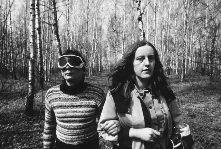 Группа «Коллективные действия» во время акции «Встреча». 1981
