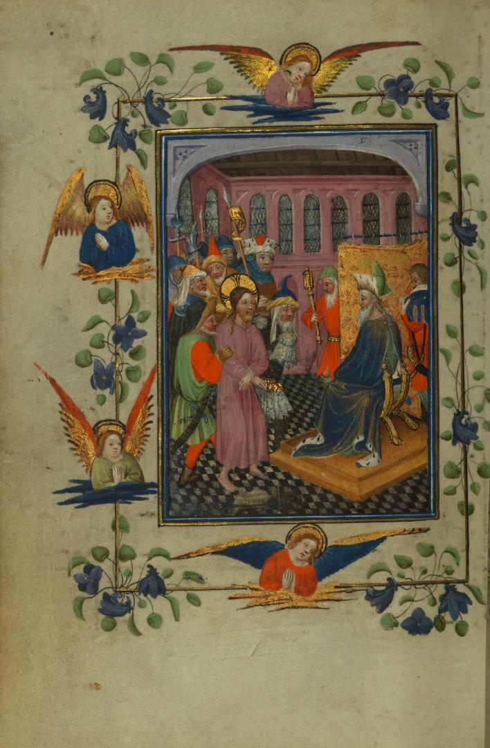Христос на суде у Пилата. Нидерланды, 1425–1450