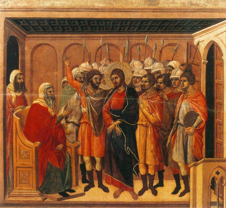 Христос перед первосвященником Анной. Фрагмент «Маэсты». 1308–1311