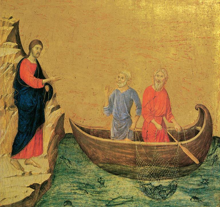 Христос призывает апостолов Петра и Андрея. 1308–1311