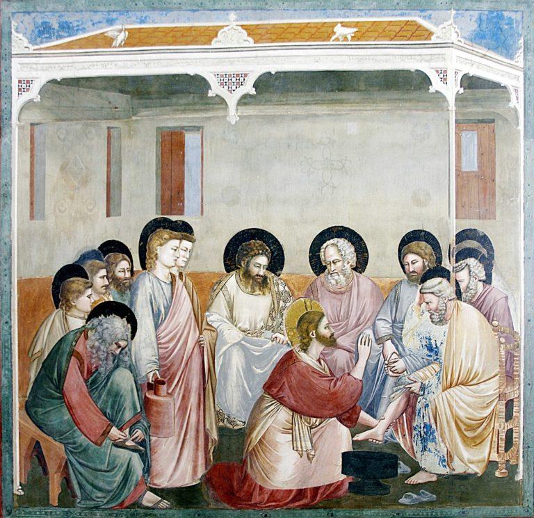 Христос умывает ноги Петру. Ок. 1303
