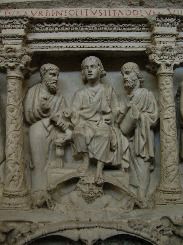 Христос вручает ключи и Закон апостолам. Ок. 359