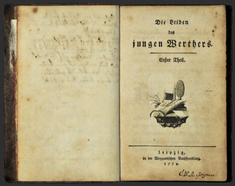 И. В. Гете. Страдания юного Вертера. Лейпциг, 1774