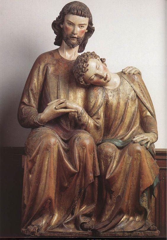 Иисус Христос и апостол Иоанн Богослов. Германия, ок. 1320