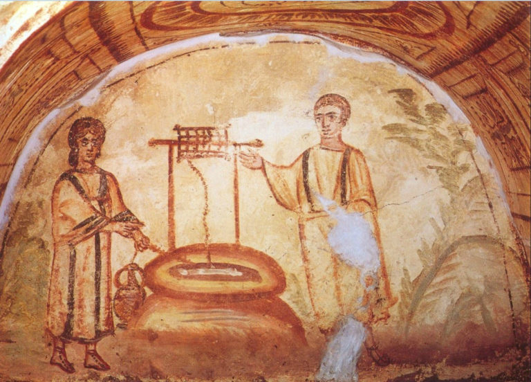 Иисус и самарянка. IV в.