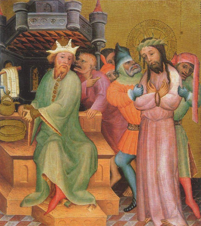 Иисус перед Понтием Пилатом. Ок. 1390