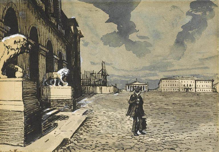 Иллюстрация к «Медному всаднику». 1903