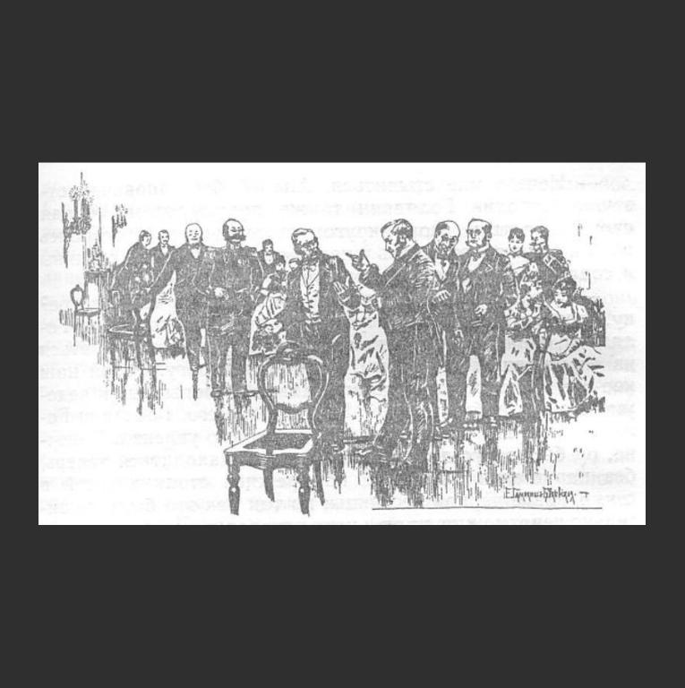 Иллюстрация к повести «Двойник». Ок. 1895