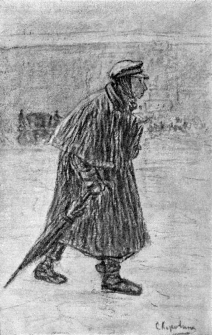 Иллюстрация к повести Н.В. Гоголя «Шинель». 1901