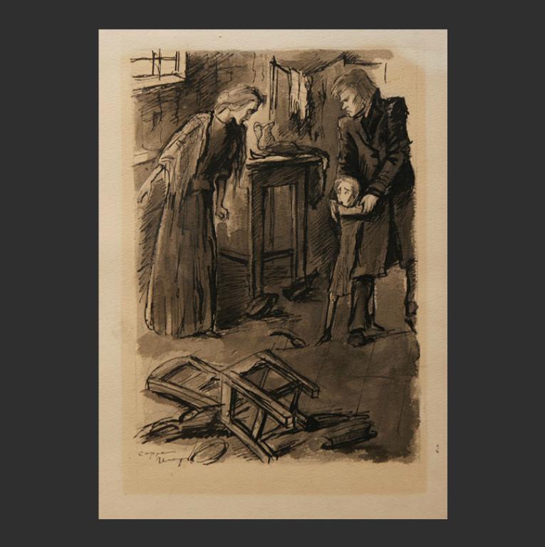 Иллюстрация к повести «Неточка Незванова». 1935