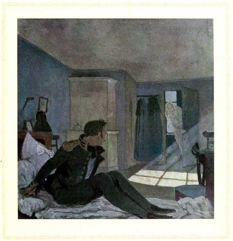 Иллюстрация к повести «Пиковая дама». 1910