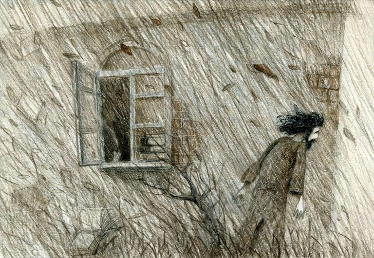 Иллюстрация к рассказу А. П. Чехова «Пари»