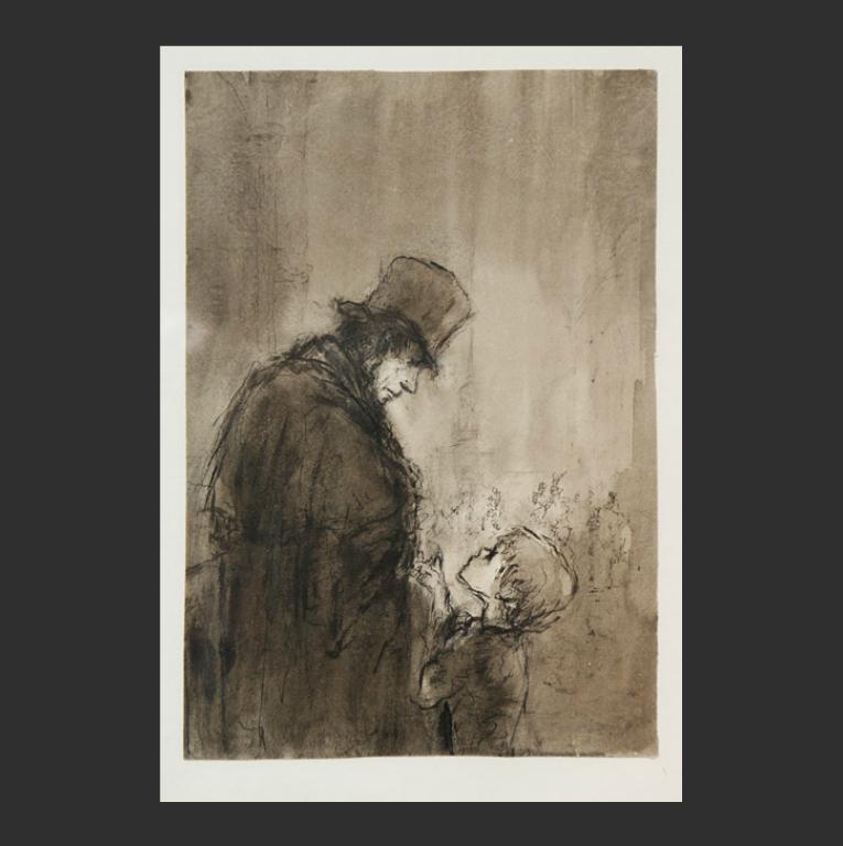 Иллюстрация к роману «Бедные люди». 1947–1948