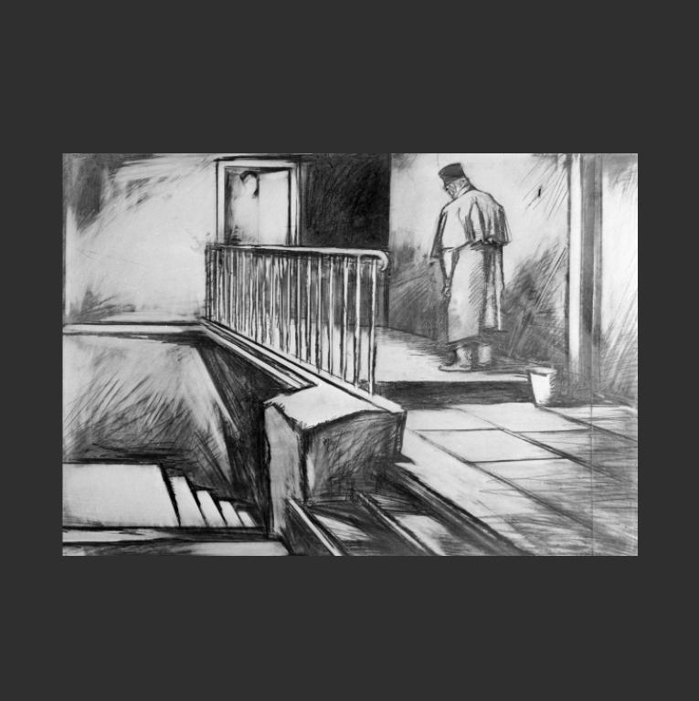 Иллюстрация к роману «Бедные люди». Ок. 1970