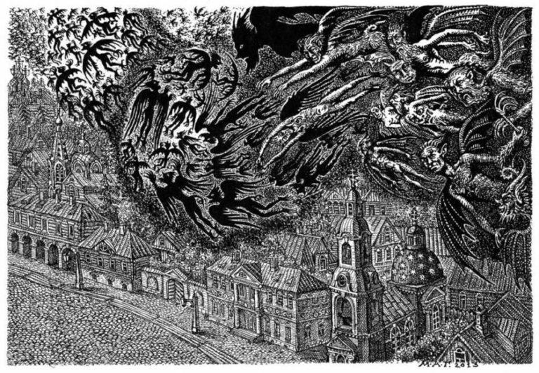 Иллюстрация к роману «Бесы». 2013