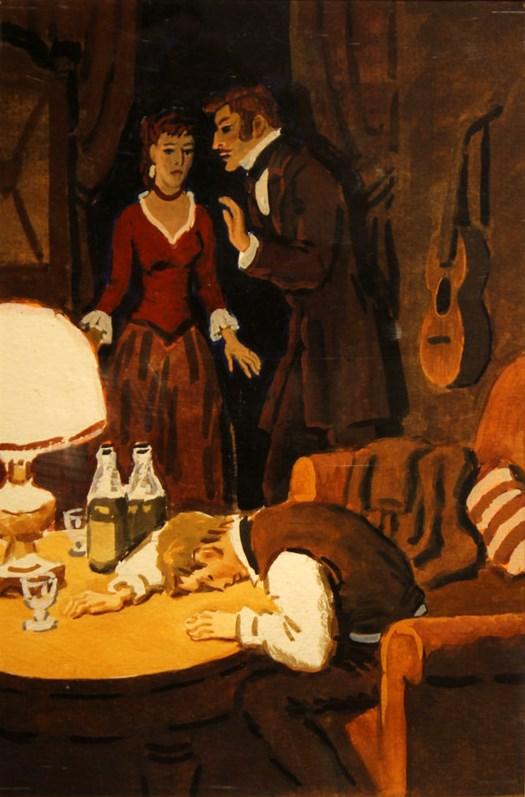 Иллюстрация к роману Ф. М. Достоевского «Подросток»