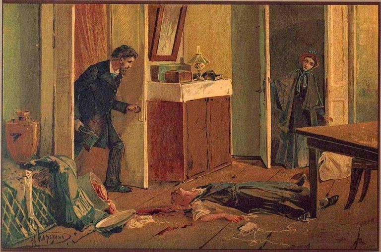 Иллюстрация к роману Ф. М. Достоевского «Преступление и наказание». 1893